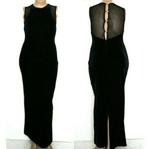 Jessica Howard 12, Velvet Mesh Back Formal Gown